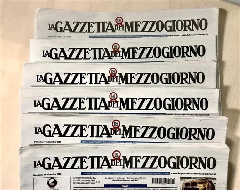 """Gazzetta del Mezzogiorno, tre giorni di sciopero: """"Pagati i fornitori e non gli stipendi"""""""