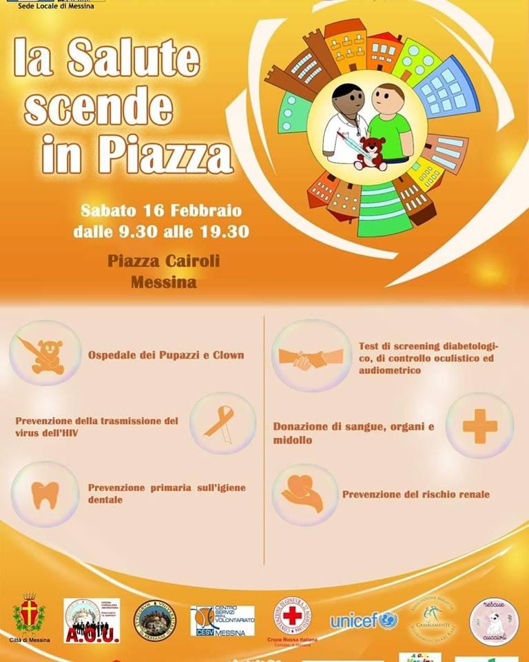 """Messina, """"La salute scende in piazza"""": prevenzione e informazione"""