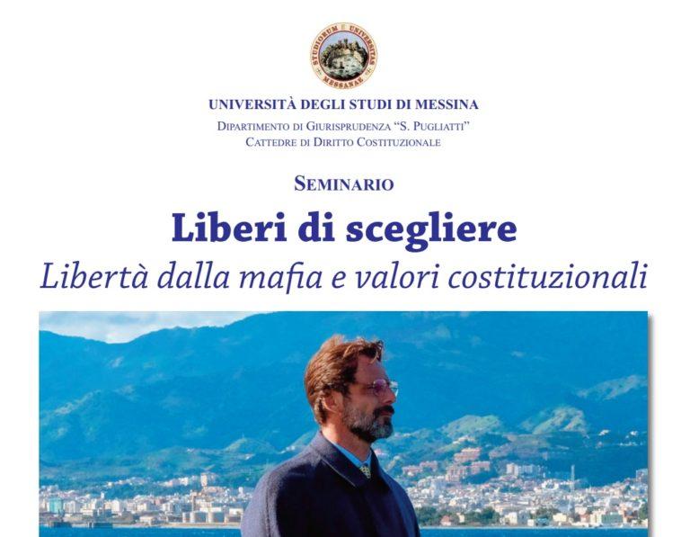 """Messina, il 26 febbraio il seminario """"Liberi di scegliere"""""""
