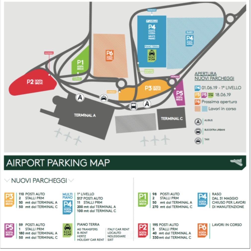 Aeroporto di Catania: dal 1° Giugno attivo il nuovo parcheggio