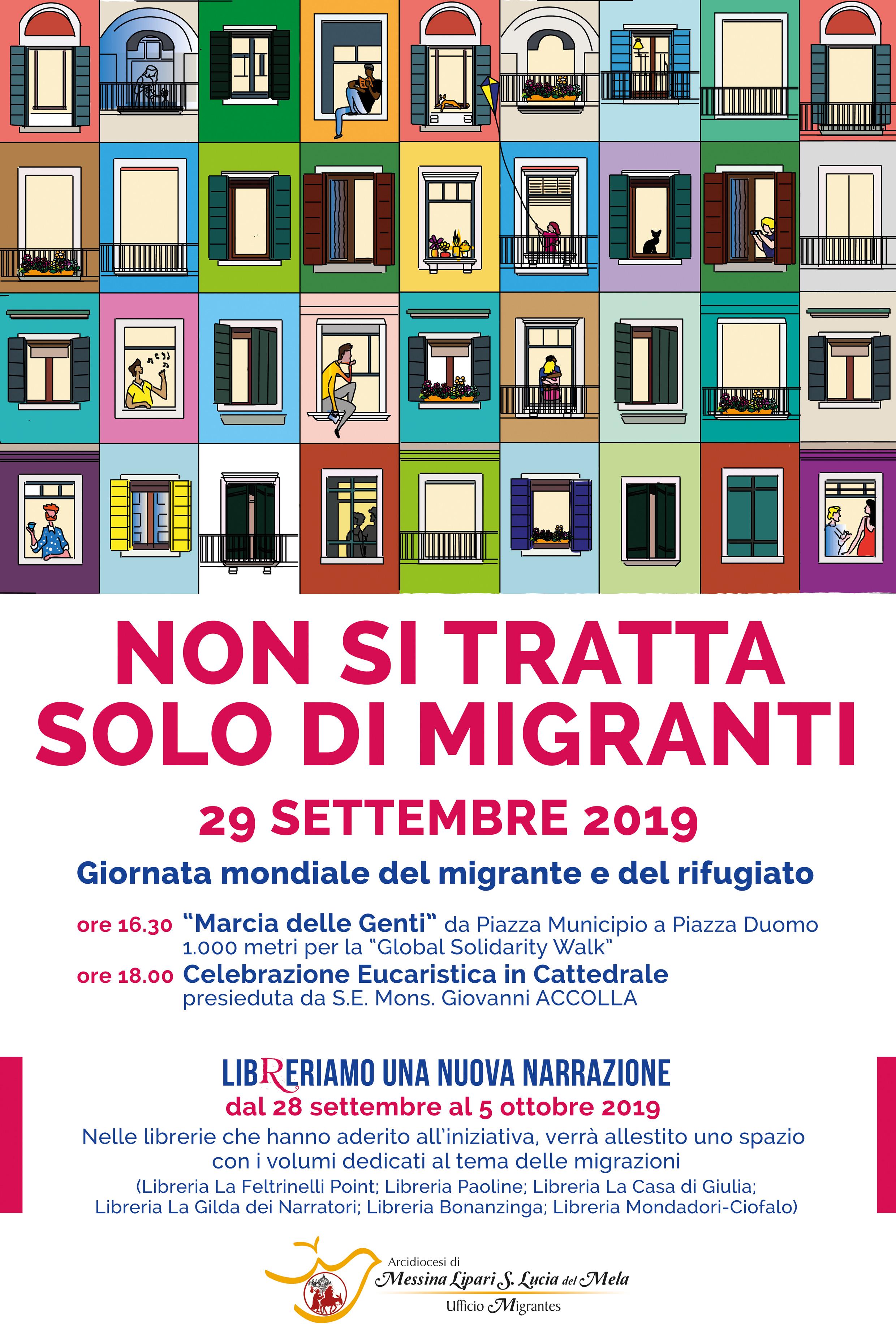 """""""Non si tratta solo di migranti"""", il 29 settembre la Marcia delle Genti a Messina"""
