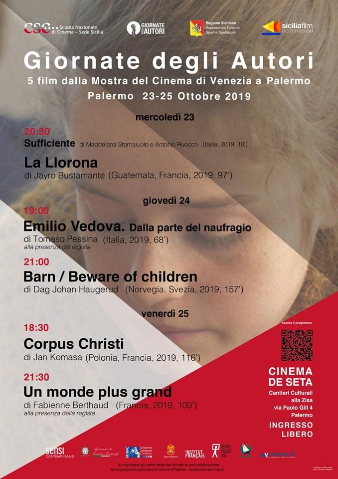 Giornate degli Autori: 5 film dalla Mostra del Cinema di Venezia a Palermo