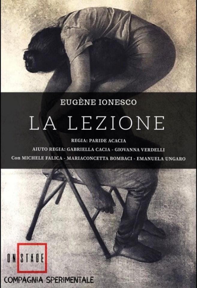 """Teatro Savio di Messina: il 26 ottobre lo spettacolo """"La lezione"""" della Compagnia sperimentale dell'Accademia ON STAGE"""