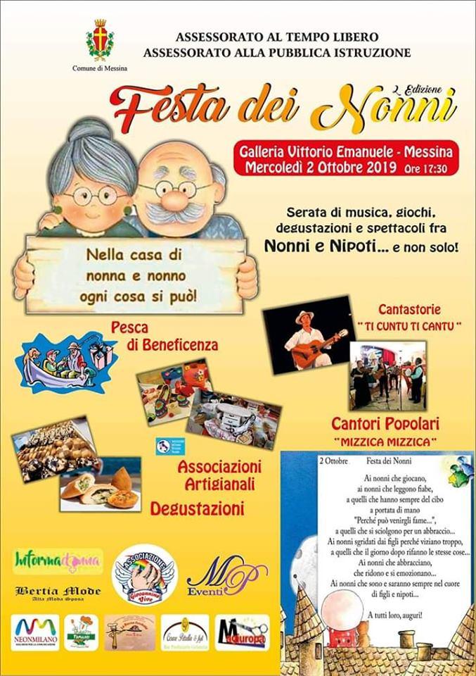 Messina, il 2 ottobre la Festa dei nonni in Galleria Vittorio Emanuele
