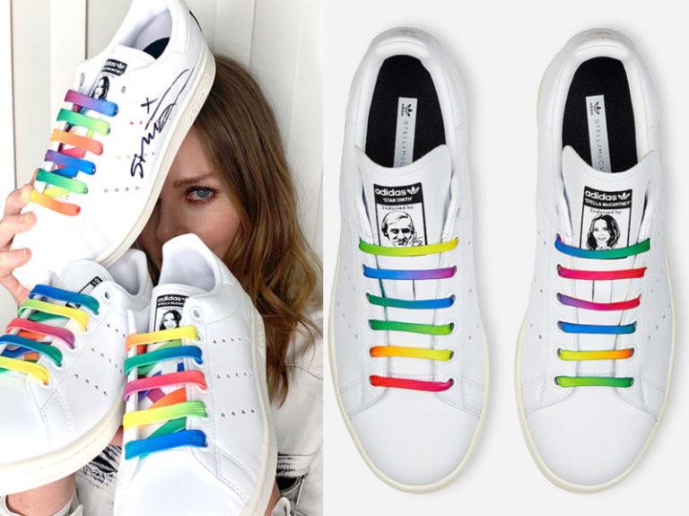 Stella McCartney per #Stansmith, arriva la sneaker arcobaleno