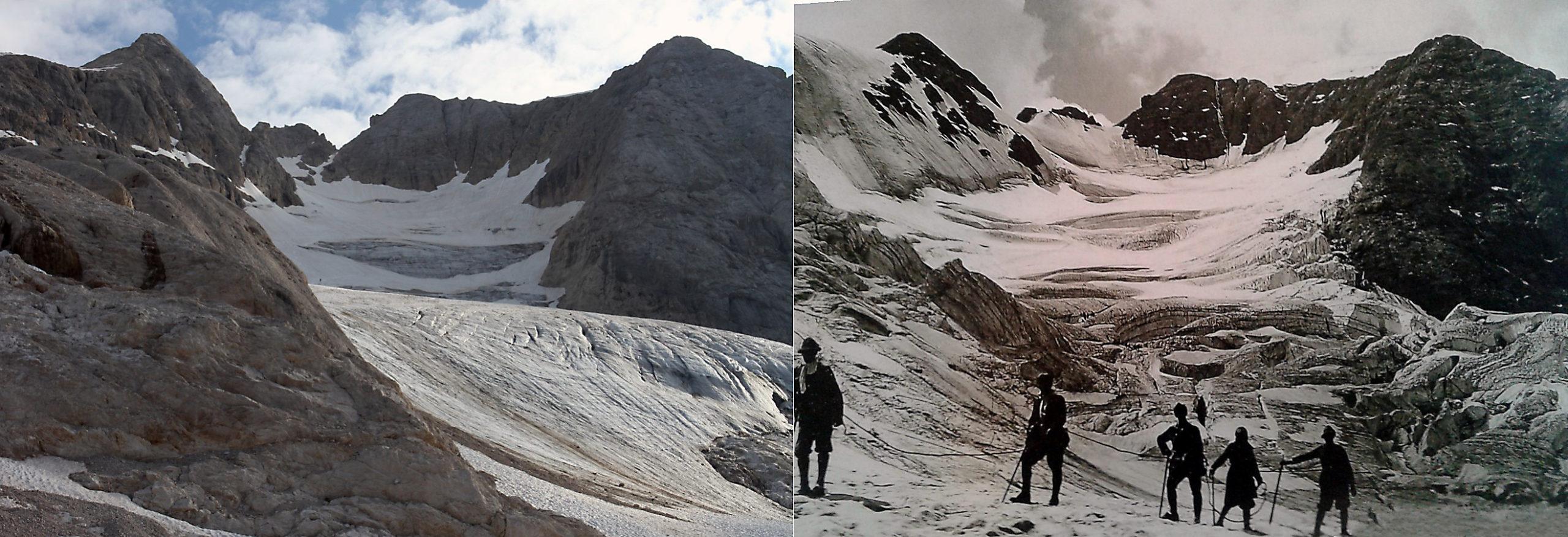 Il ghiacciaio della Marmolada tra 25-30 anni non ci sarà più