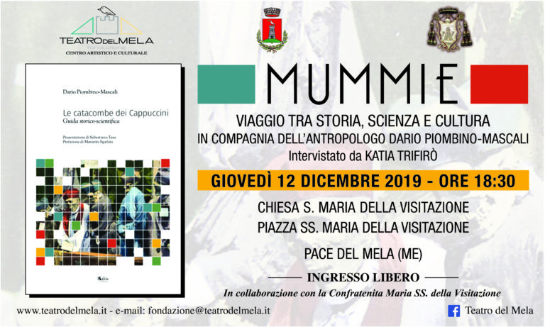 """""""Mummie"""": il 12 dicembre a Pace del Mela un coinvolgente viaggio con l'antropologo Dario Piombino-Mascali tra storia, scienza e cultura"""