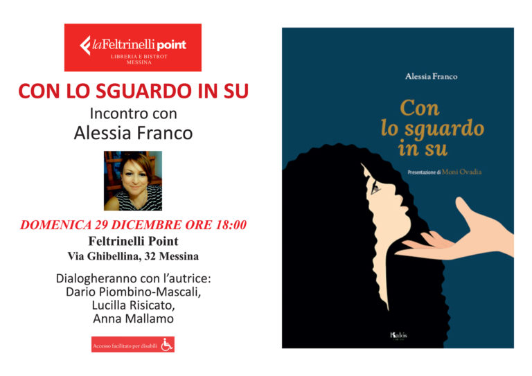 """Alessia Franco a Messina per presentare il suo ultimo libro, """"Con lo sguardo in su"""""""
