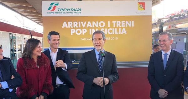 """Nuovo treno regionale """"Pop"""": la Sicilia è la prima a dotarsi di questo moderno convoglio"""