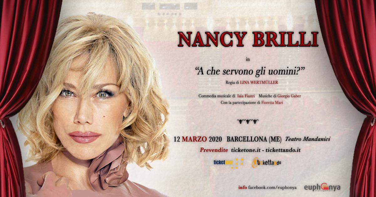 """""""A che servono gli uomini?"""": Nancy Brilli al Teatro Mandanici di Barcellona Pozzo di Gotto"""