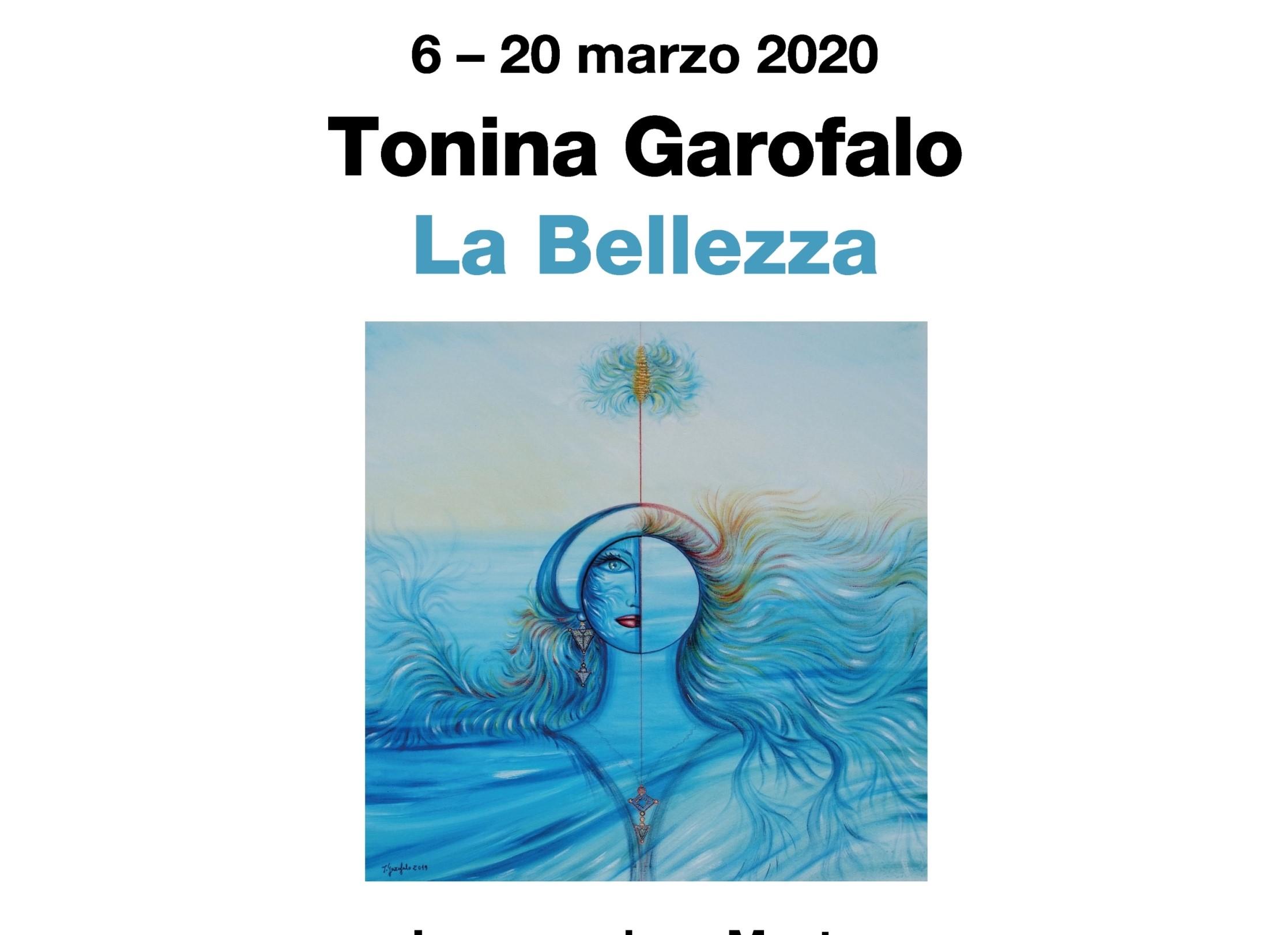 """""""La Bellezza"""": dal 6 marzo a Cosenza la mostra di Tonina Garofalo"""