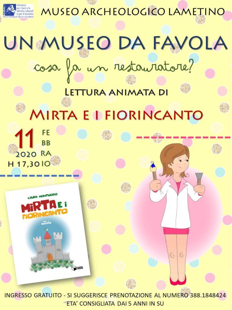 """""""Un museo da favola"""". Lettura animata di Mirta e Fiorincanto al Museo Archeologico Lametino"""
