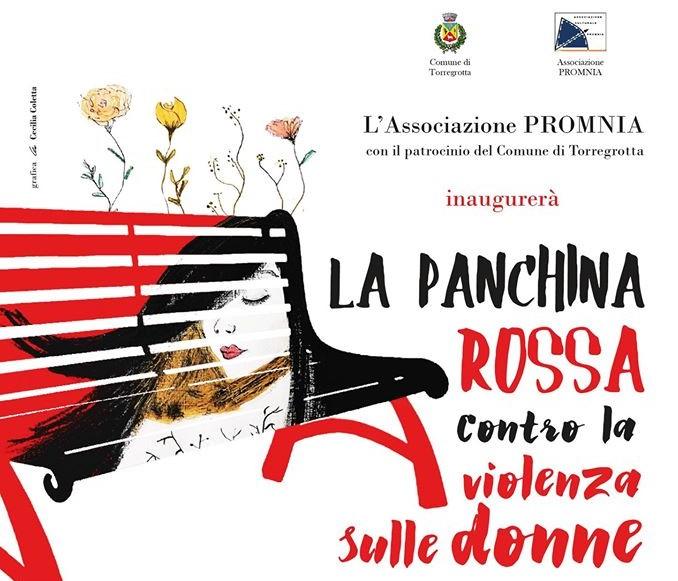 Arriva anche a Torregrotta la panchina rossa per dire NO alla violenza sulle donne