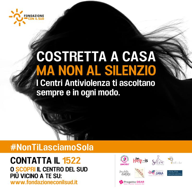 #Coronavirus: restare a casa può essere una trappola per chi subisce violenza domestica. Nasce la campagna #NonTiLasciamoSola