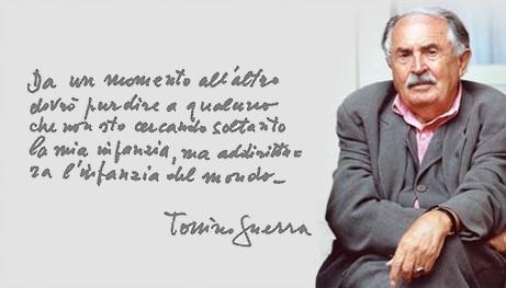 """""""Auguri Tonino Guerra!"""", i cent'anni dalla nascita (Video)"""