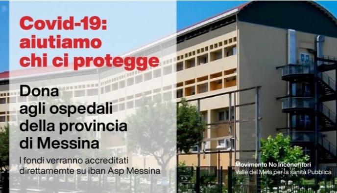 Emergenza Covid-19: il Movimento No Inceneritori lancia una raccolta fondi a favore dell'Asp di Messina
