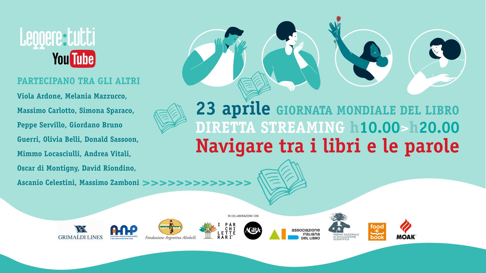 """23 aprile: Giornata Mondiale del Libro. La maratona culturale di """"Leggere: tutti"""""""