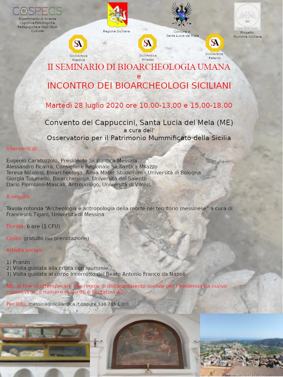 Gli scheletri raccontano: a Santa Lucia del Mela il secondo seminario di bioarcheologia umana