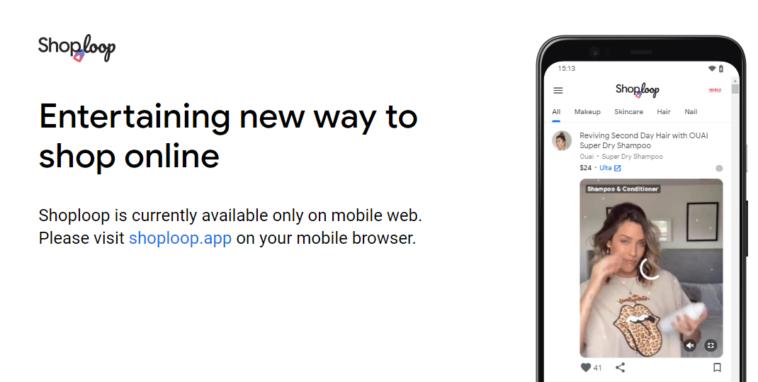 Shopping online – Google svela Shoploop
