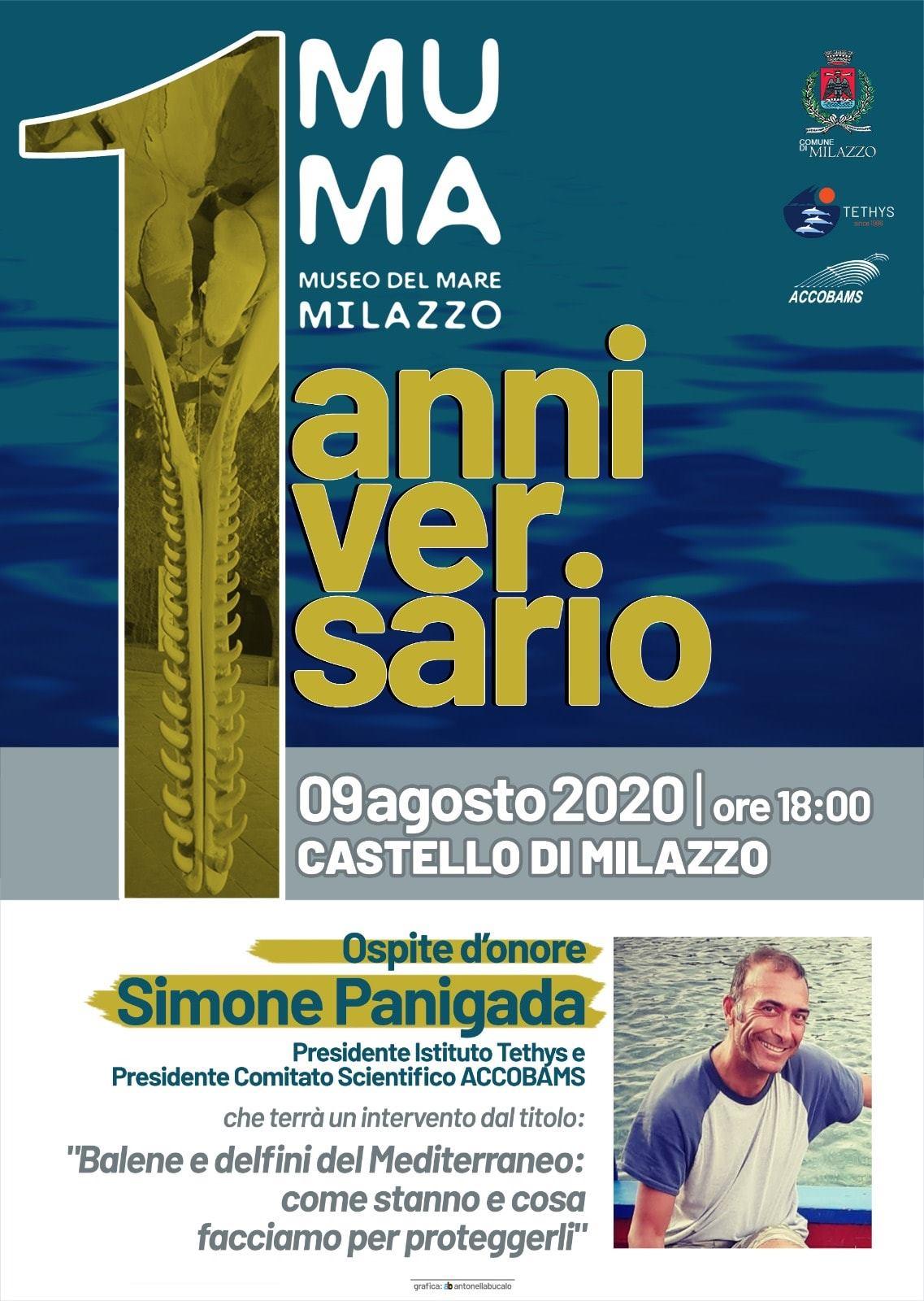 Milazzo, un anno di MuMa: ospite d'eccezione Simone Panigada