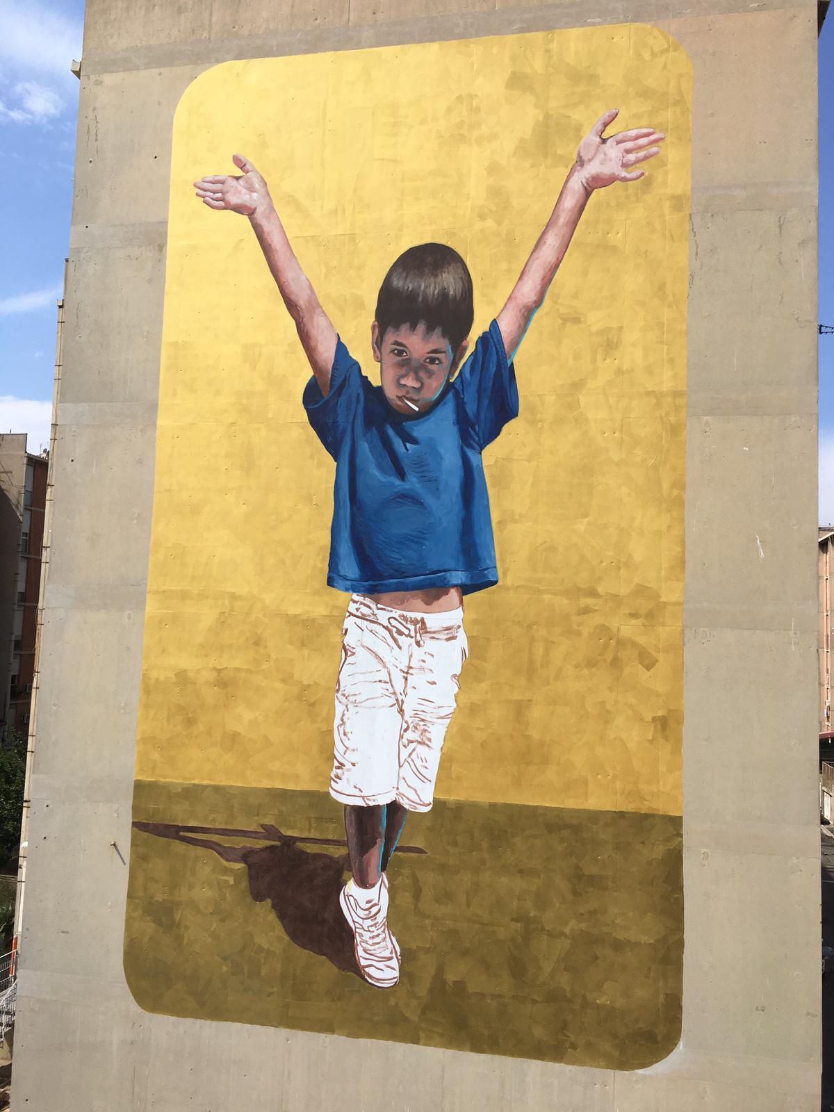 """""""Io sono te"""" un murale per una Palermo che vuole guardare alla bellezza e al futuro"""