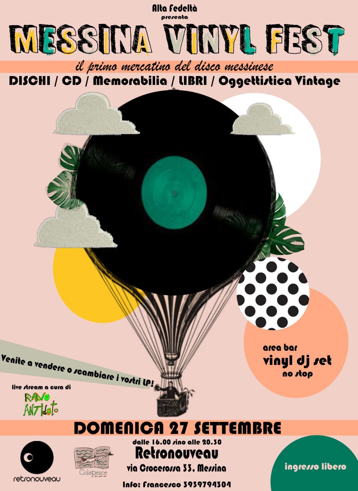 Messina Vinyl Fest: la prima edizione al Retronouveau