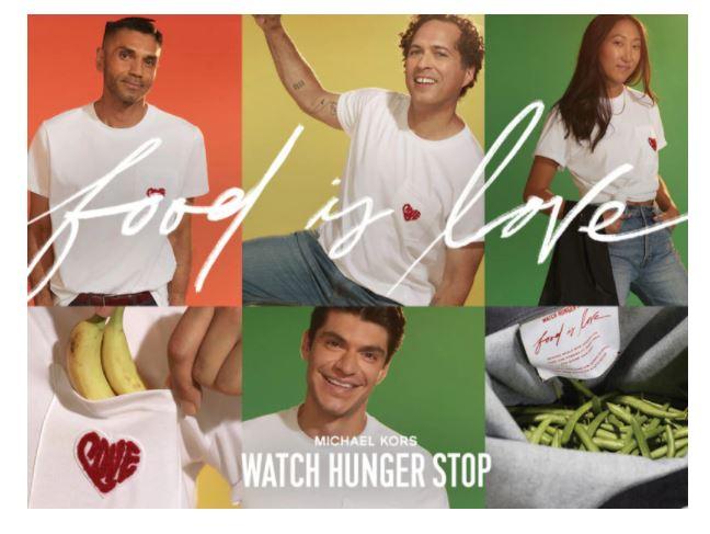 """Parte """"Food is Love – Share Your Heart"""", la campagna contro la fame nel mondo di Michael Kors"""