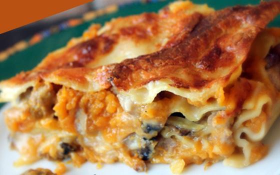 Lasagne con crema di zucca e funghi. Ecco come prepararle