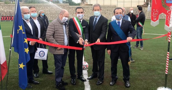 """S.Teresa di Riva: inaugurato lo stadio di contrada """"Bucalo"""", completamente ristrutturato"""