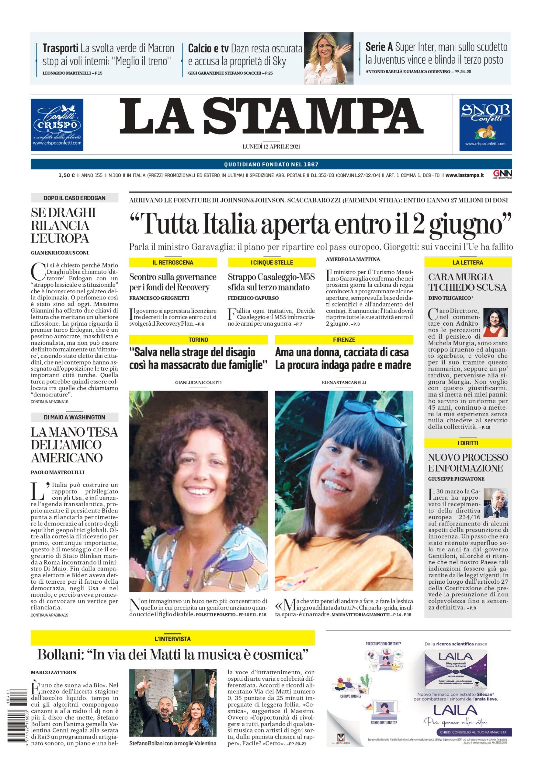 """""""Tutta Italia aperta entro il 2 giugno"""""""