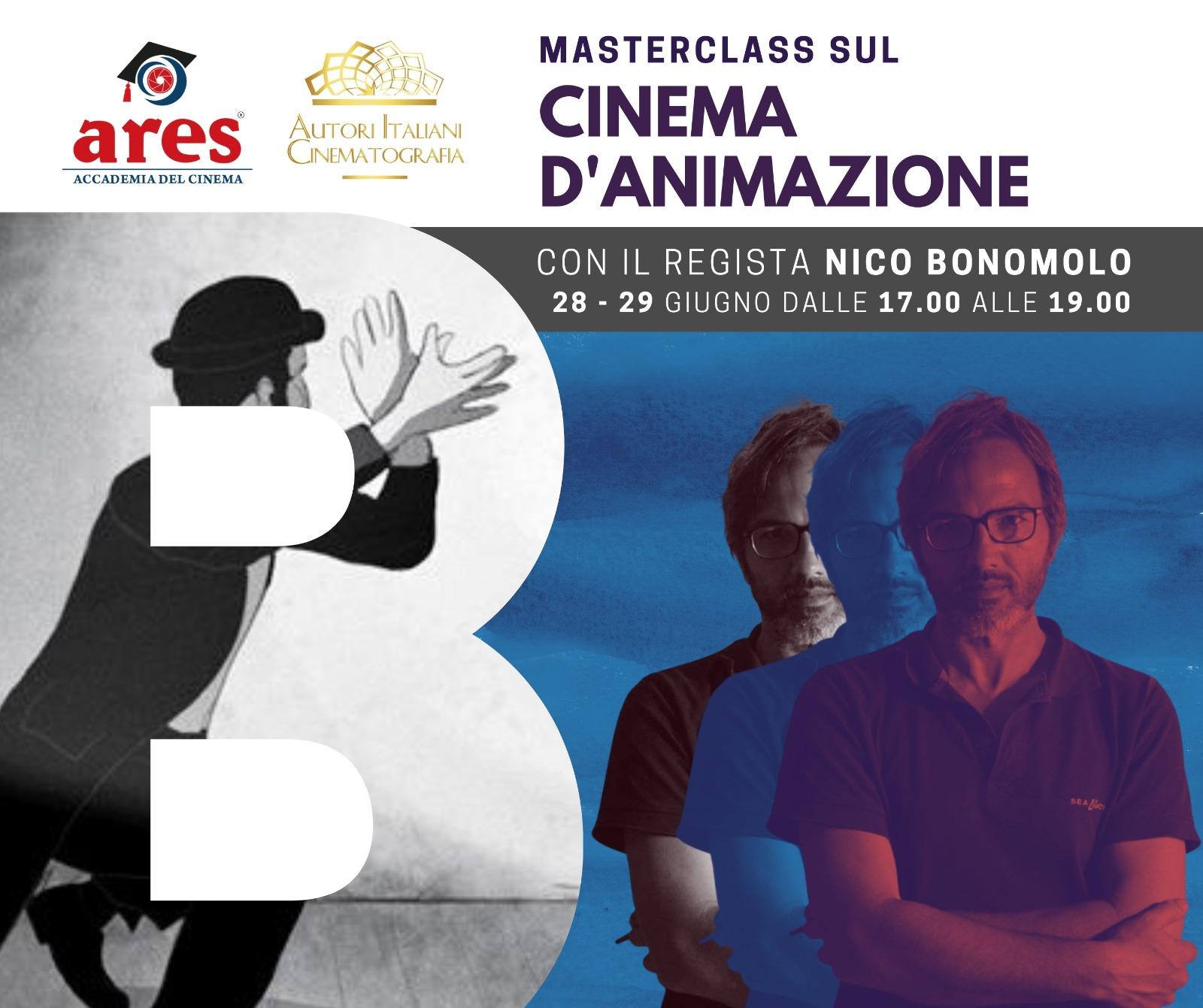 Accademia del Cinema Ares: Masterclass sul Cinema Animato con il regista Nico Bonomolo